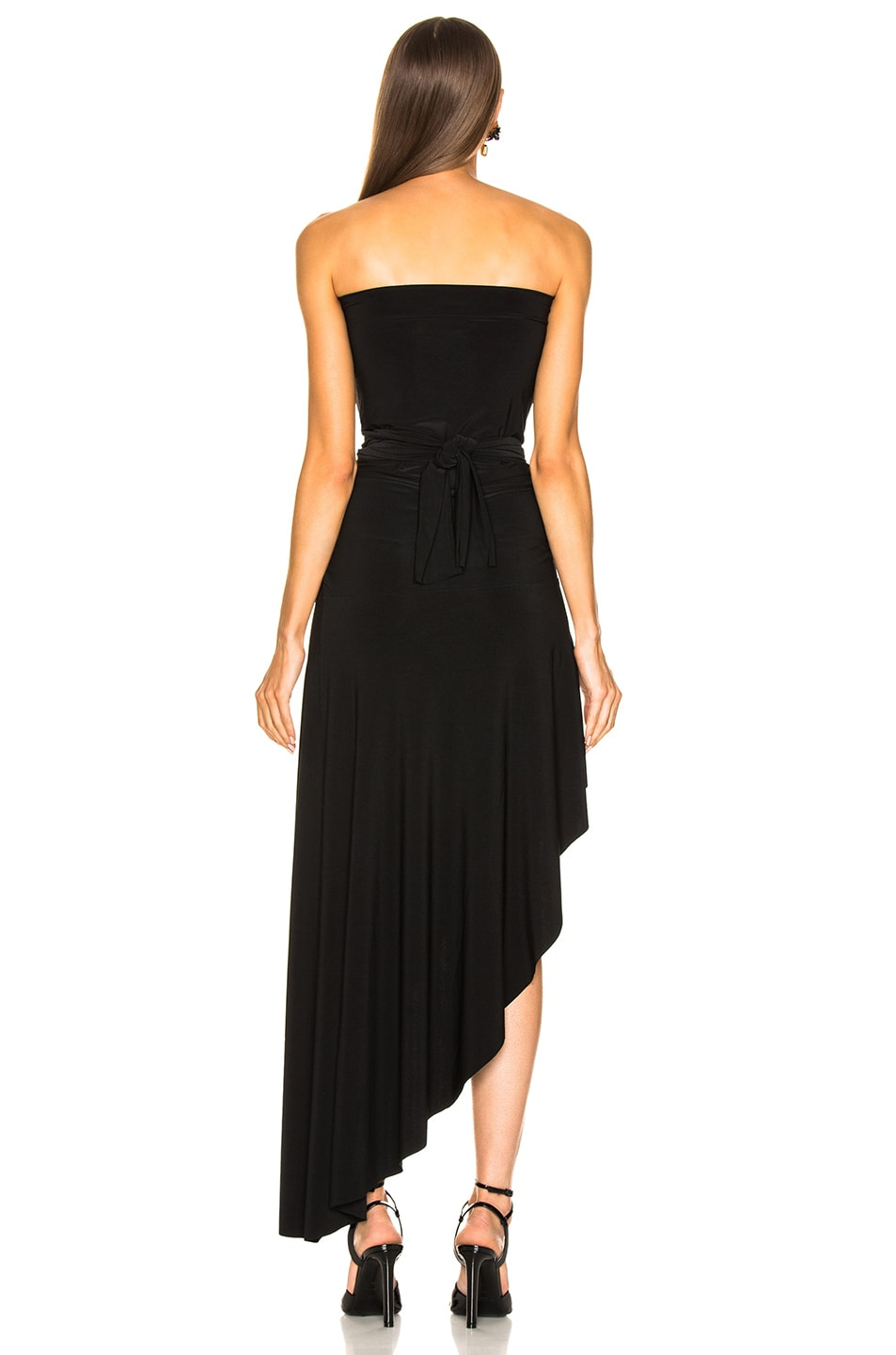 Image 6 of Norma Kamali All In One Hi Low Dress in Black