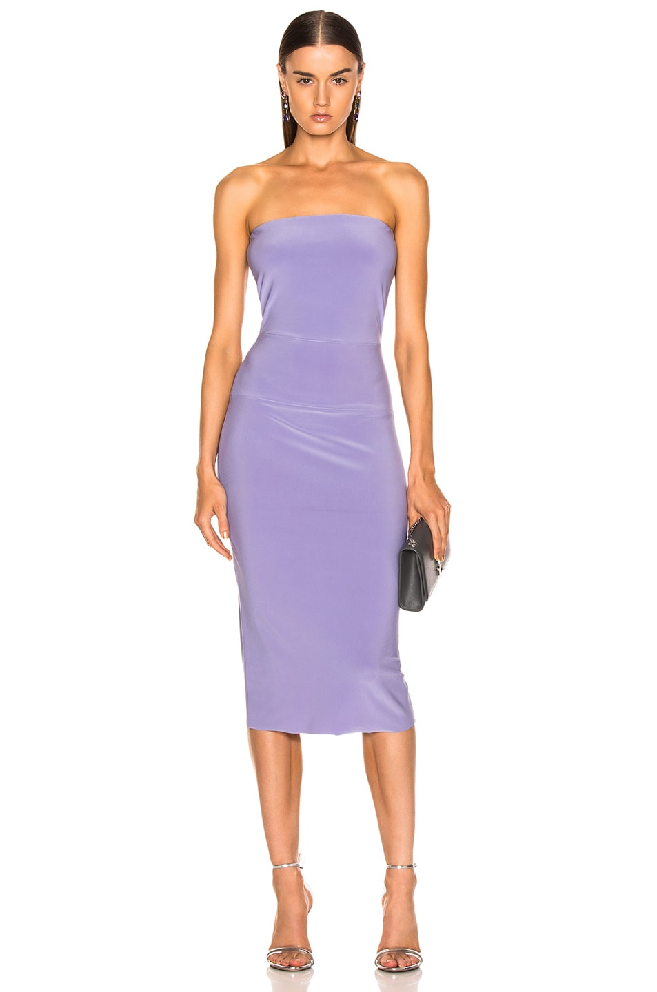 Image 1 of Norma Kamali for FWRD Strapless Dress in Violet