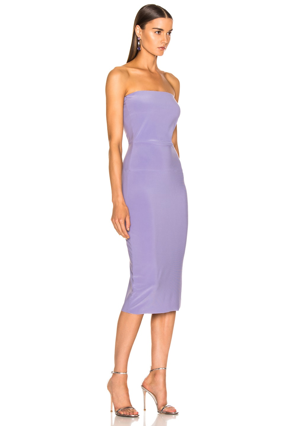 Image 2 of Norma Kamali for FWRD Strapless Dress in Violet