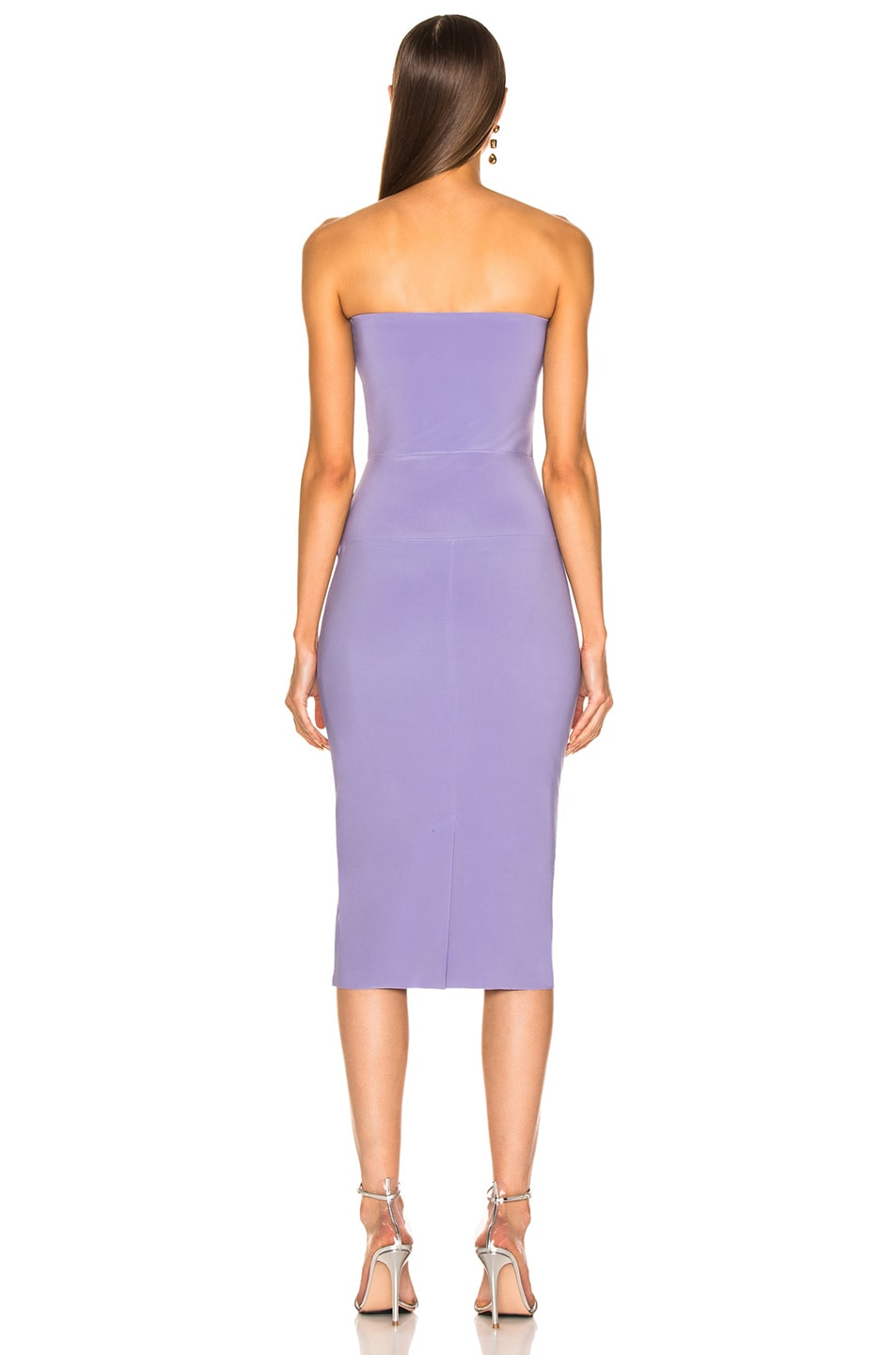 Image 3 of Norma Kamali for FWRD Strapless Dress in Violet