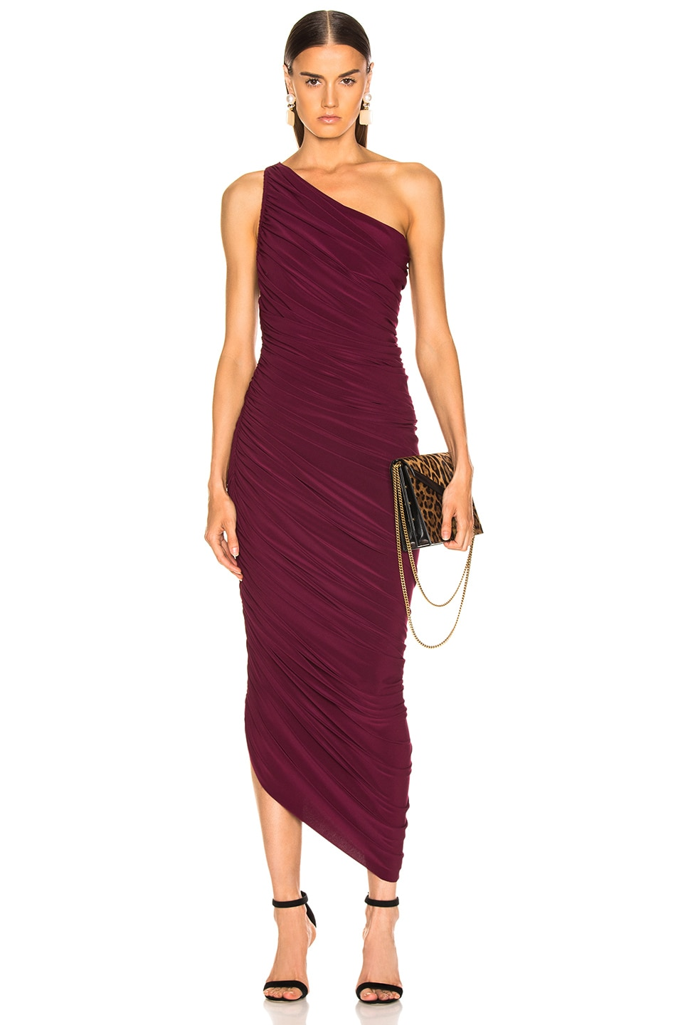 Image 1 of Norma Kamali Diana Gown in Plum