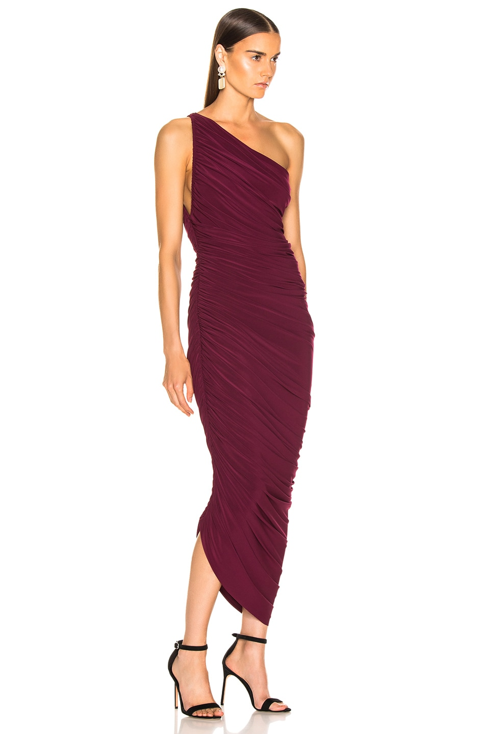 Image 2 of Norma Kamali Diana Gown in Plum