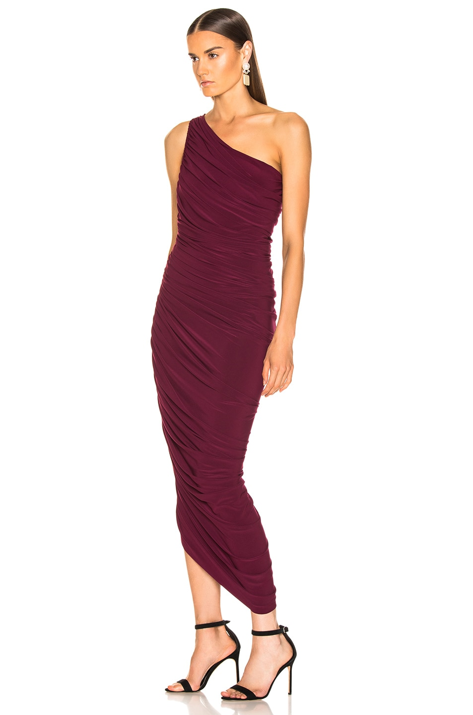Image 3 of Norma Kamali Diana Gown in Plum