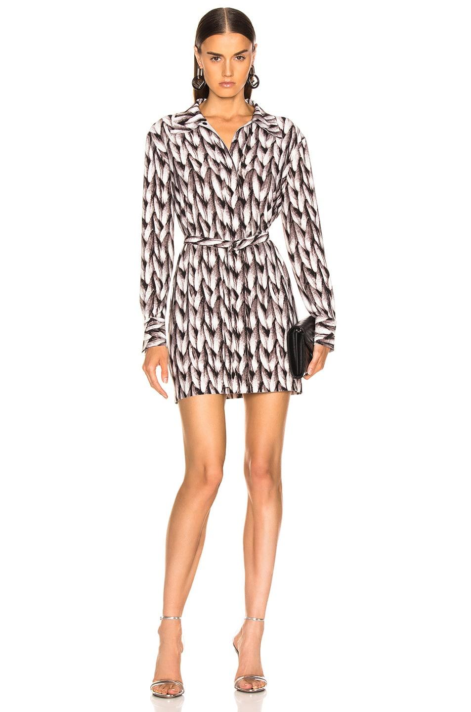 Image 1 of Norma Kamali Mini Shirt Dress in Large Knit