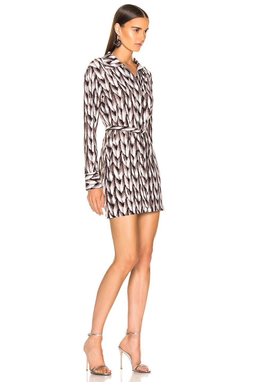 Image 2 of Norma Kamali Mini Shirt Dress in Large Knit
