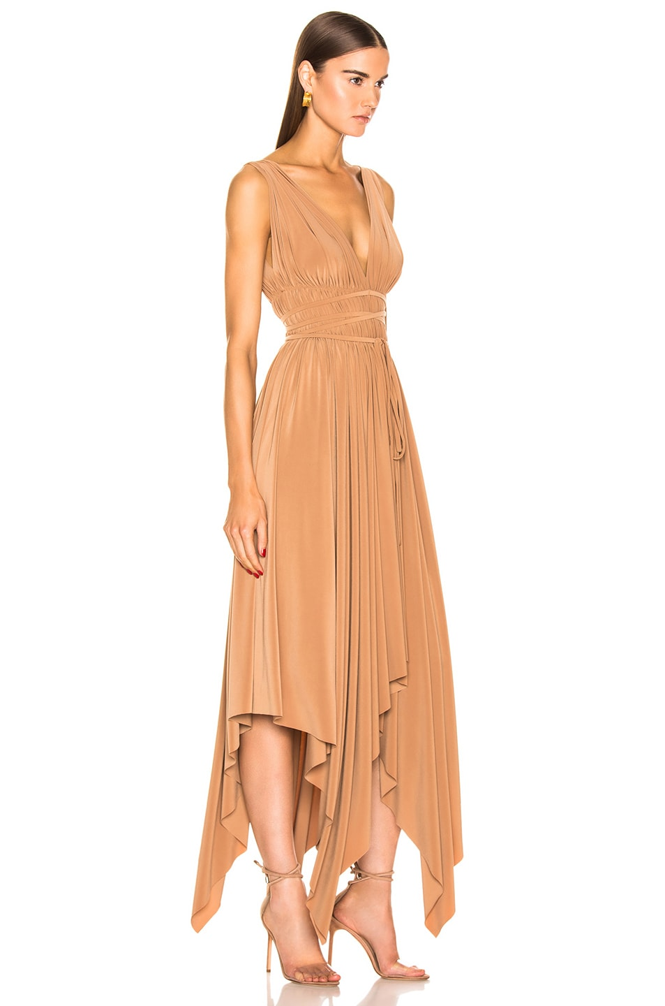Image 2 of Norma Kamali Goddess Dress in Suntan