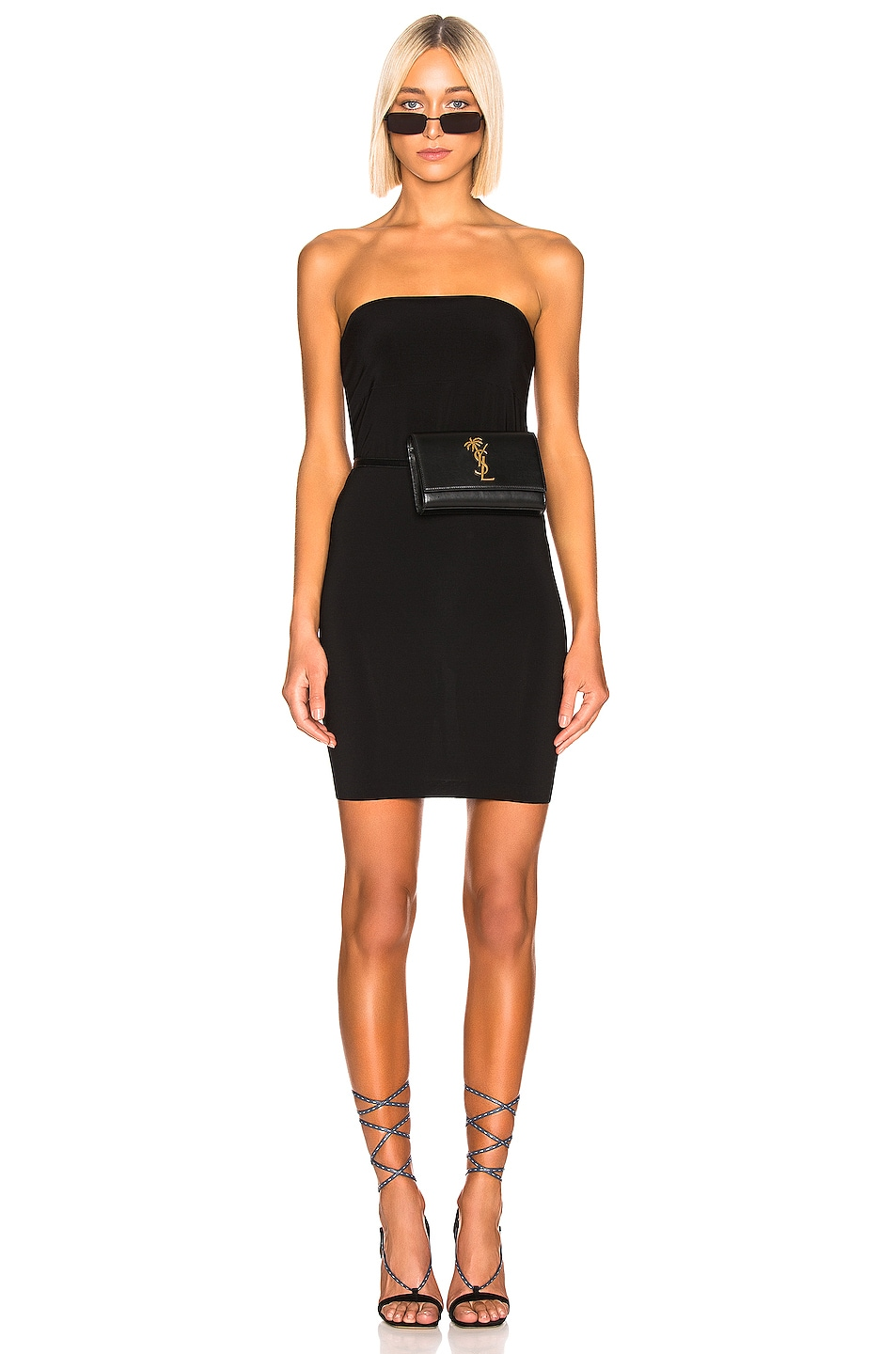 Image 1 of Norma Kamali Mini Tube Dress in Black