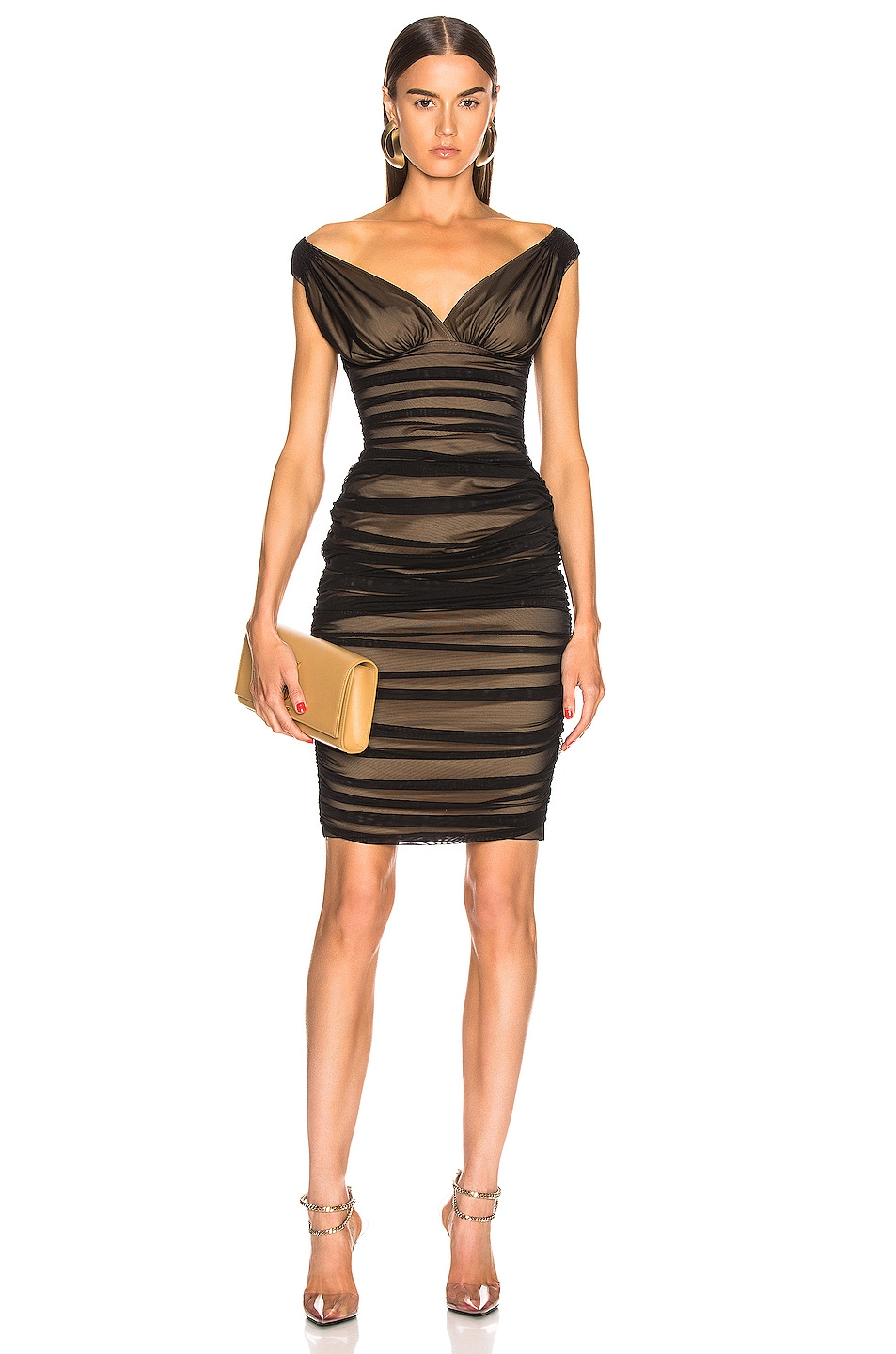 Image 1 of Norma Kamali Tara Dress in Black Mesh