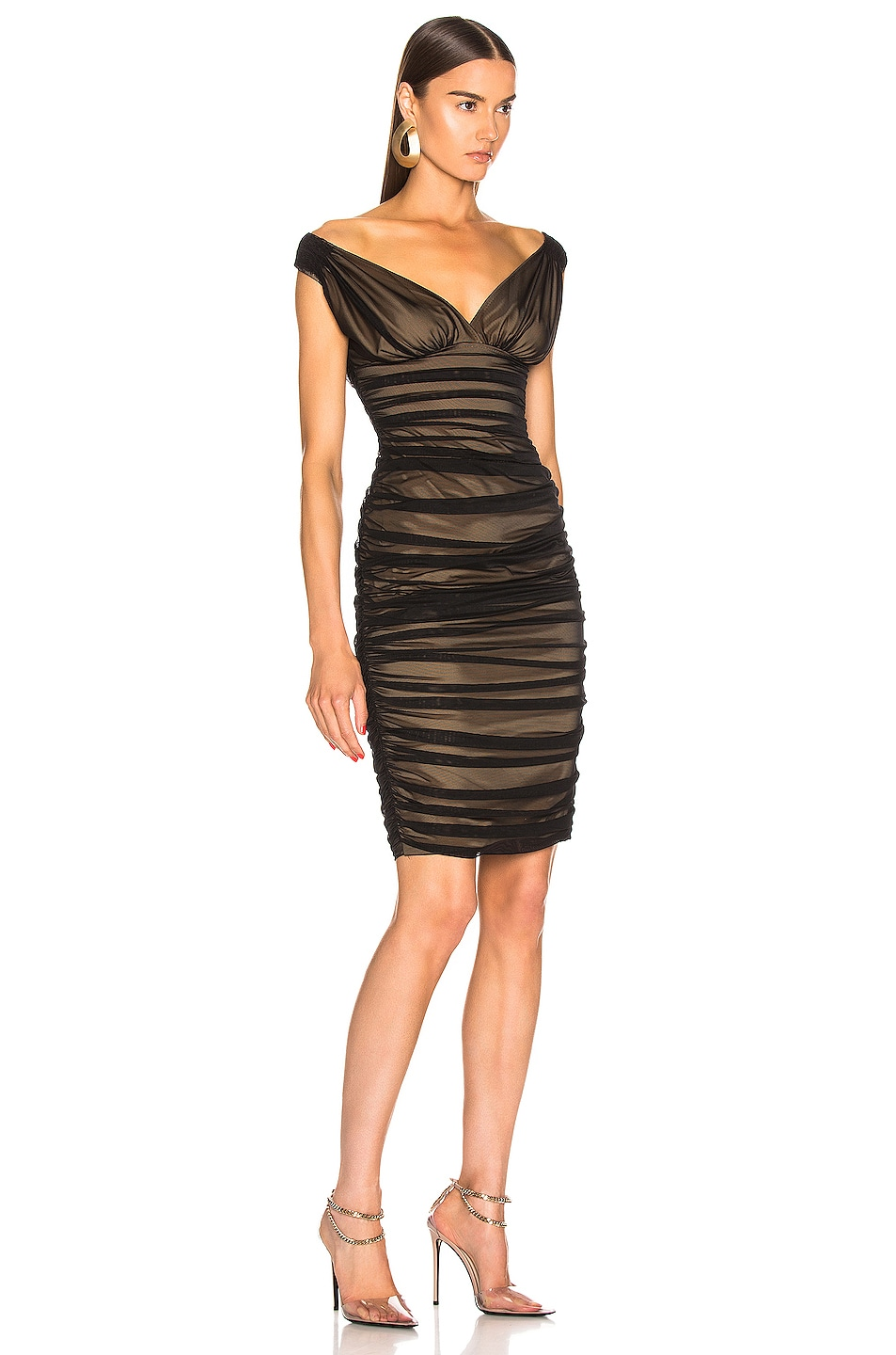 Image 2 of Norma Kamali Tara Dress in Black Mesh