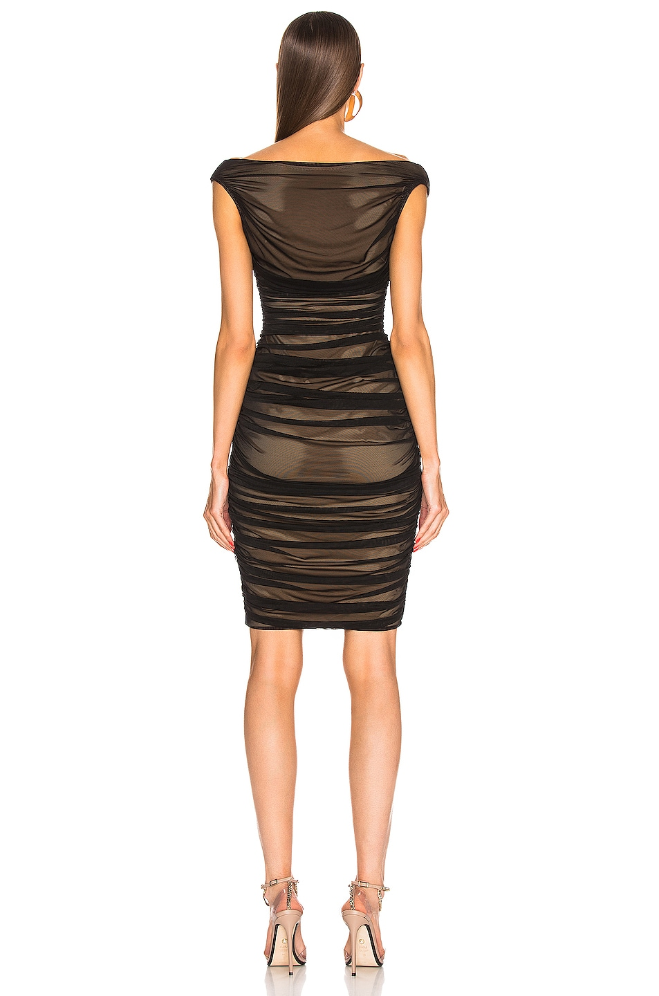 Image 3 of Norma Kamali Tara Dress in Black Mesh