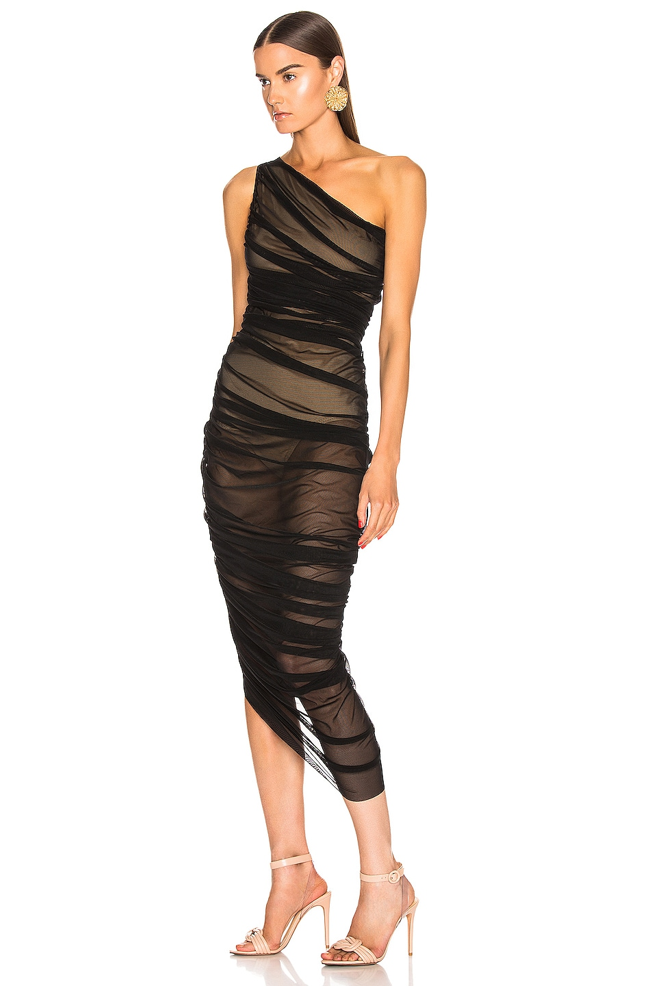 Image 3 of Norma Kamali Diana Gown in Black Mesh