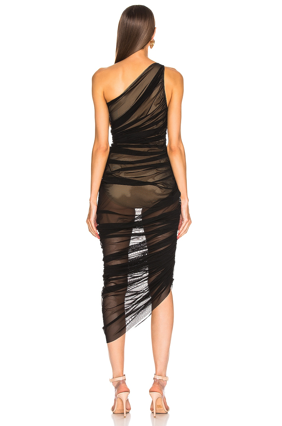 Image 4 of Norma Kamali Diana Gown in Black Mesh
