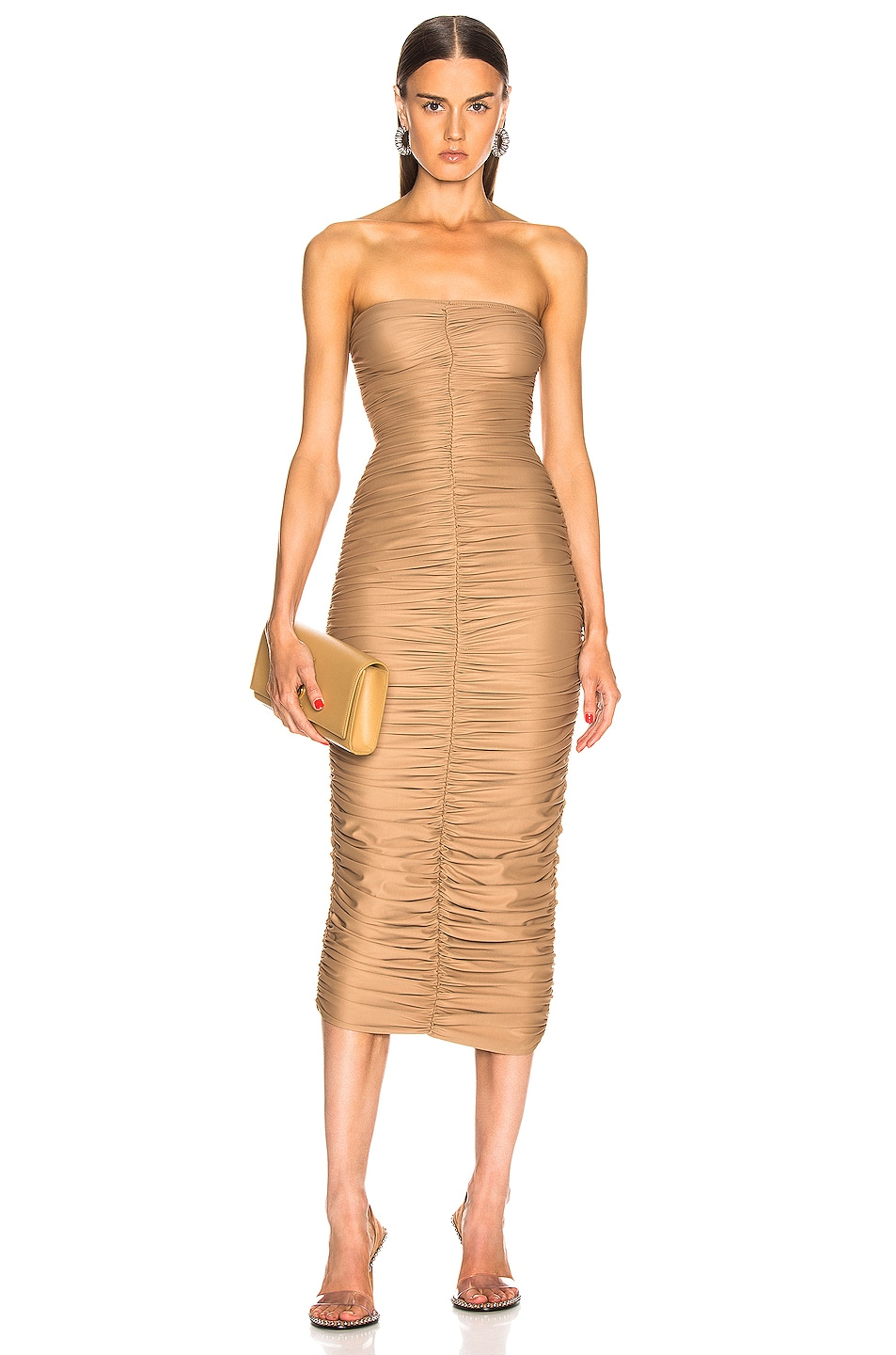 Image 1 of Norma Kamali Slinky Dress for FWRD in Suntan