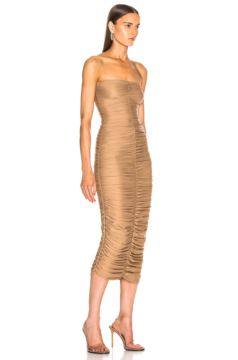 Image 2 of Norma Kamali Slinky Dress for FWRD in Suntan