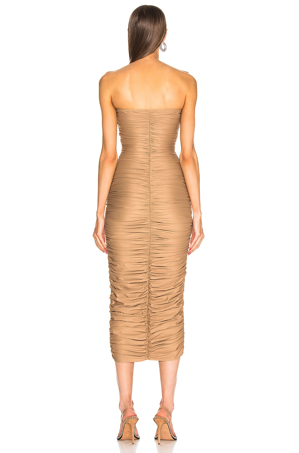 Image 3 of Norma Kamali Slinky Dress for FWRD in Suntan