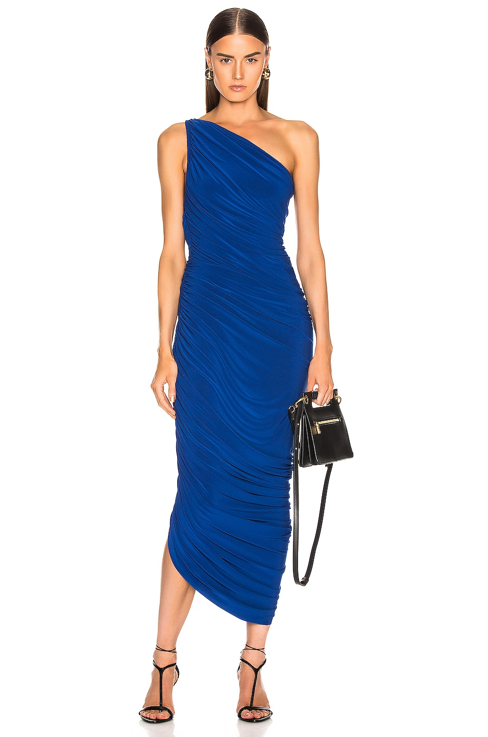 Image 1 of Norma Kamali Diana Dress in Berry Blue