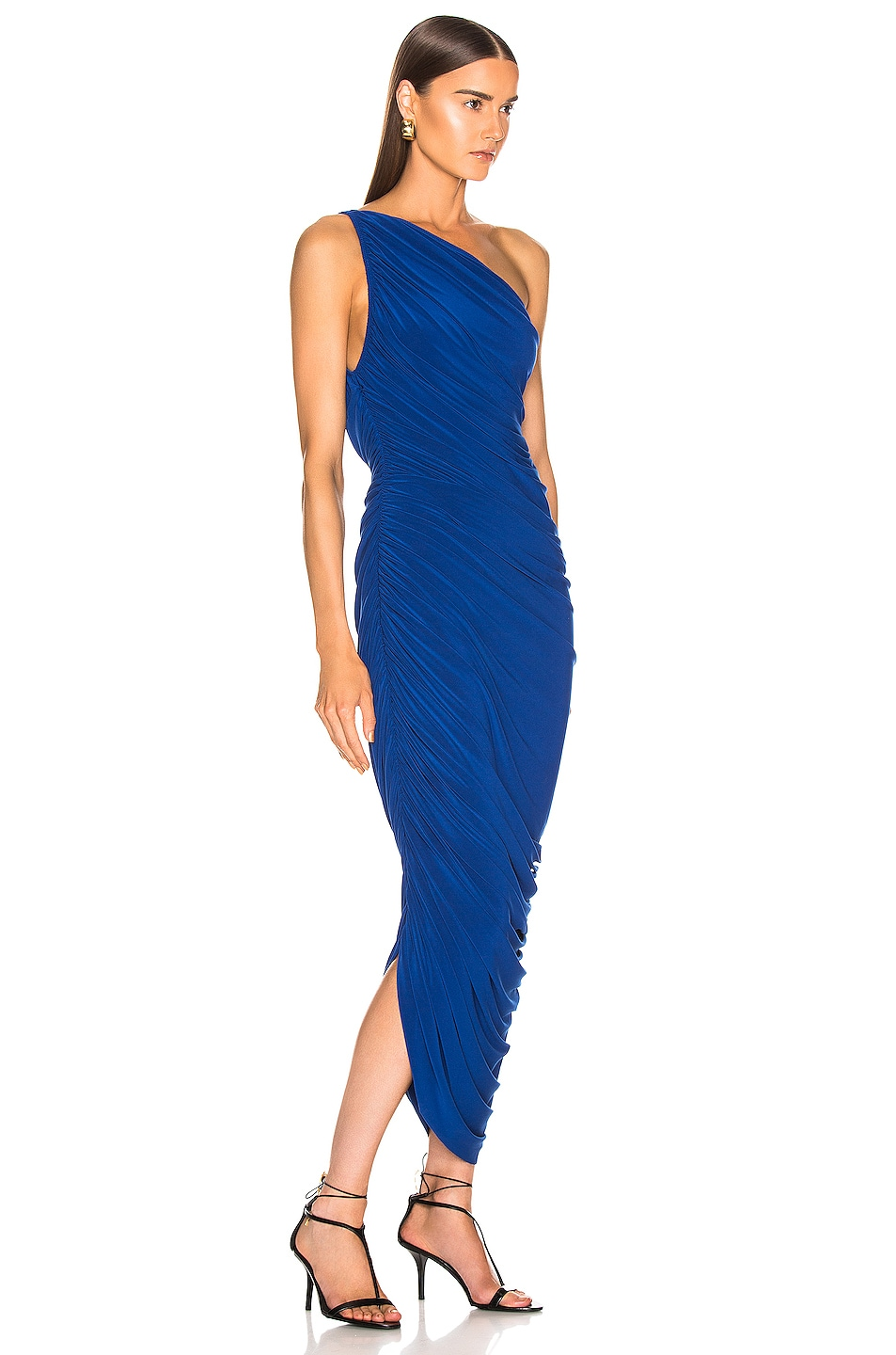 Image 2 of Norma Kamali Diana Dress in Berry Blue