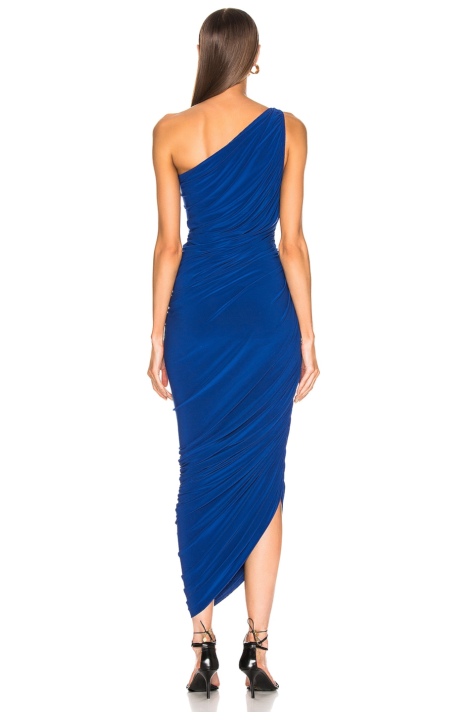 Image 3 of Norma Kamali Diana Dress in Berry Blue