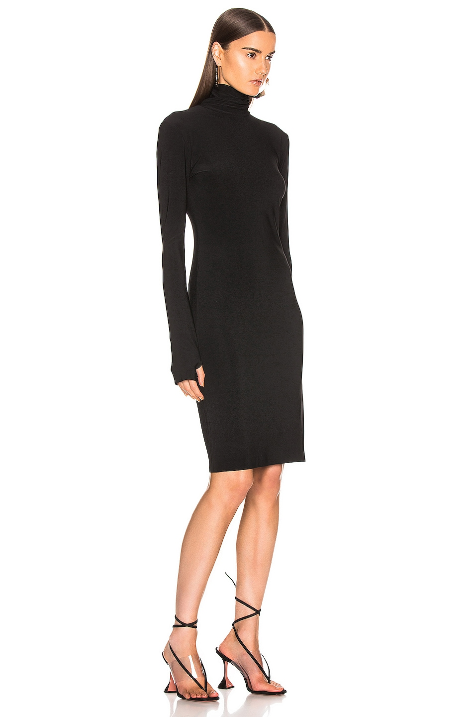 Image 2 of Norma Kamali Slim Fit Turtleneck Dress in Black