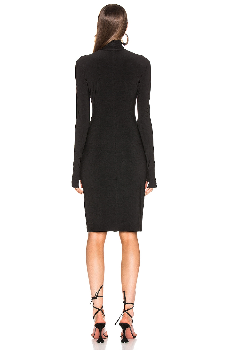 Image 3 of Norma Kamali Slim Fit Turtleneck Dress in Black