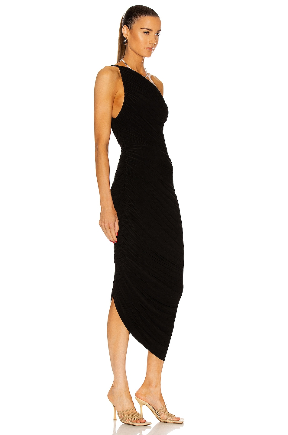 Image 2 of Norma Kamali Diana Gown in Black