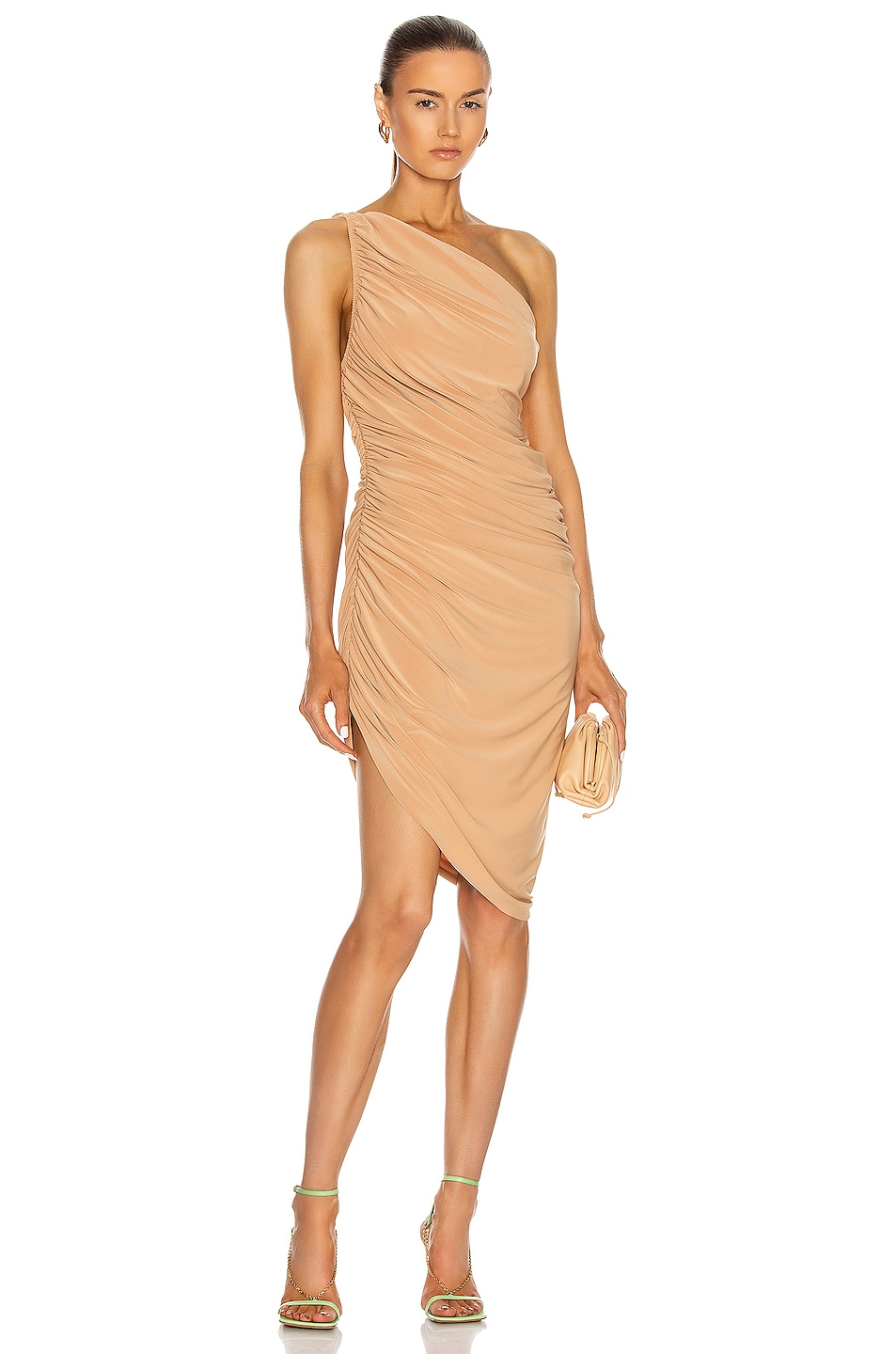 Image 1 of Norma Kamali Diana Mini Dress in Nude