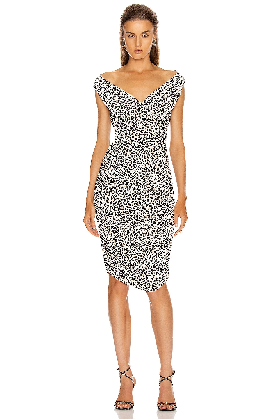 Image 1 of Norma Kamali Tara Dress in Baby Leopard