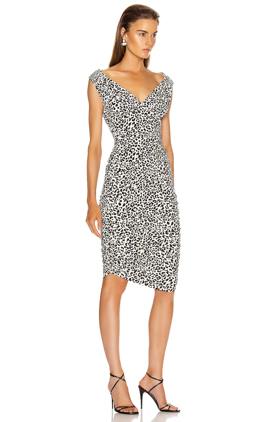 Image 2 of Norma Kamali Tara Dress in Baby Leopard