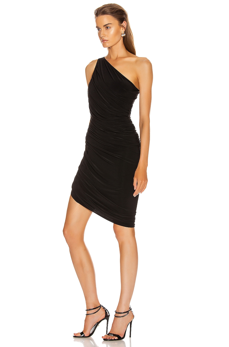 Image 3 of Norma Kamali Diana Mini Dress in Black