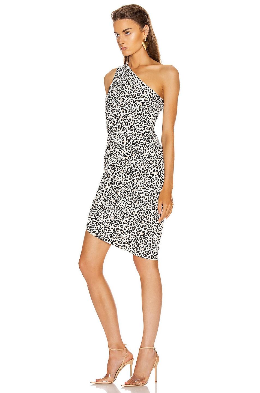 Image 3 of Norma Kamali Diana Mini Dress in Baby Leopard