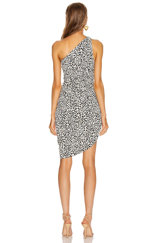 Image 4 of Norma Kamali Diana Mini Dress in Baby Leopard