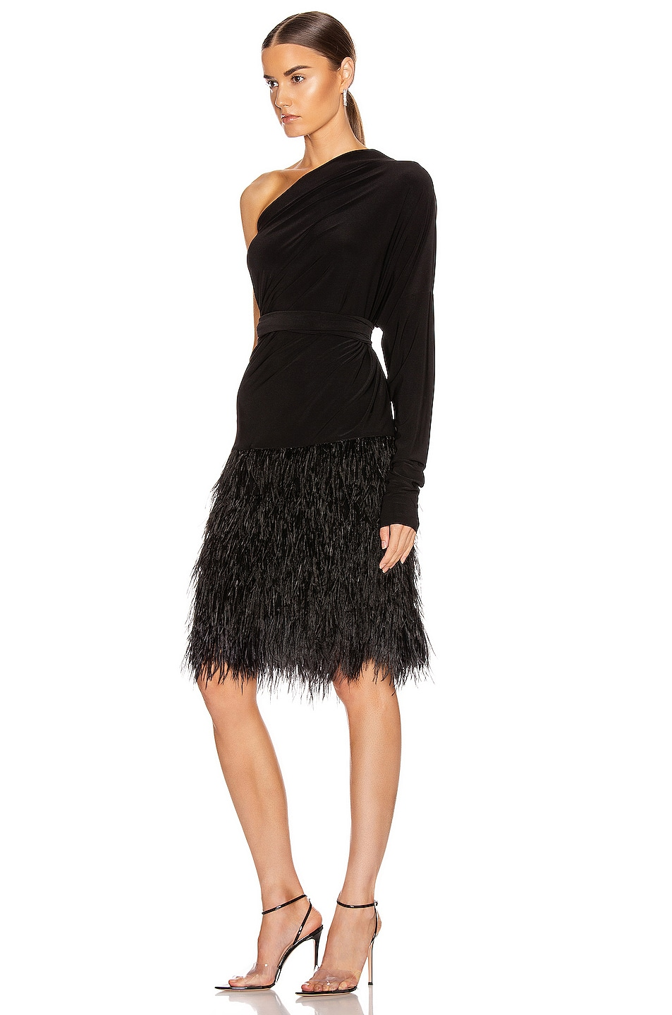 Image 5 of Norma Kamali Feather All In One Dress in Black