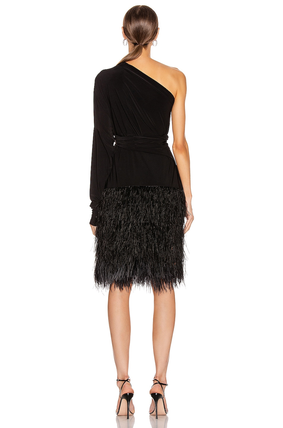 Image 6 of Norma Kamali Feather All In One Dress in Black
