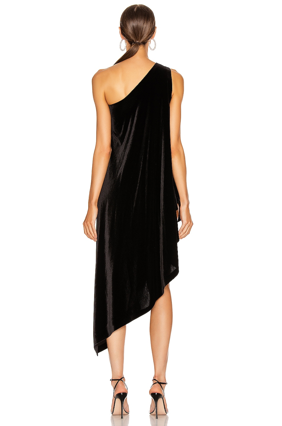 Image 4 of Norma Kamali One Shoulder Diagonal Tunic in Black