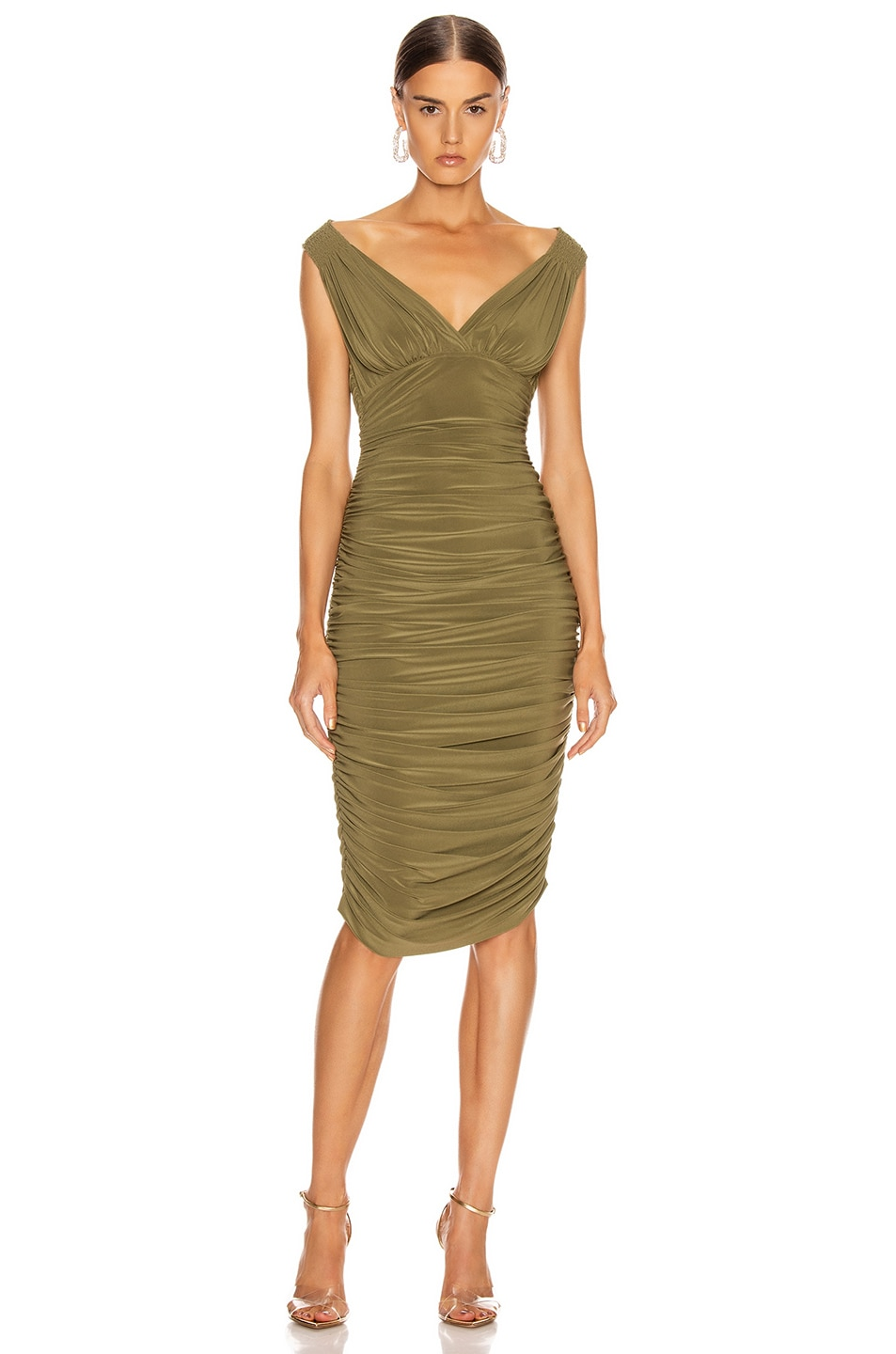 Image 1 of Norma Kamali Tara Dress in Dark Khaki