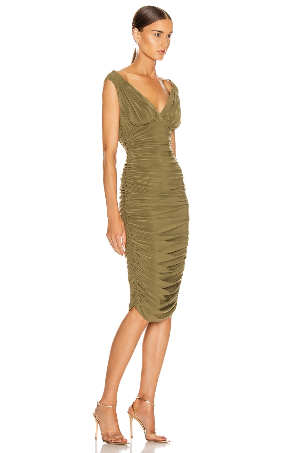 Image 2 of Norma Kamali Tara Dress in Dark Khaki
