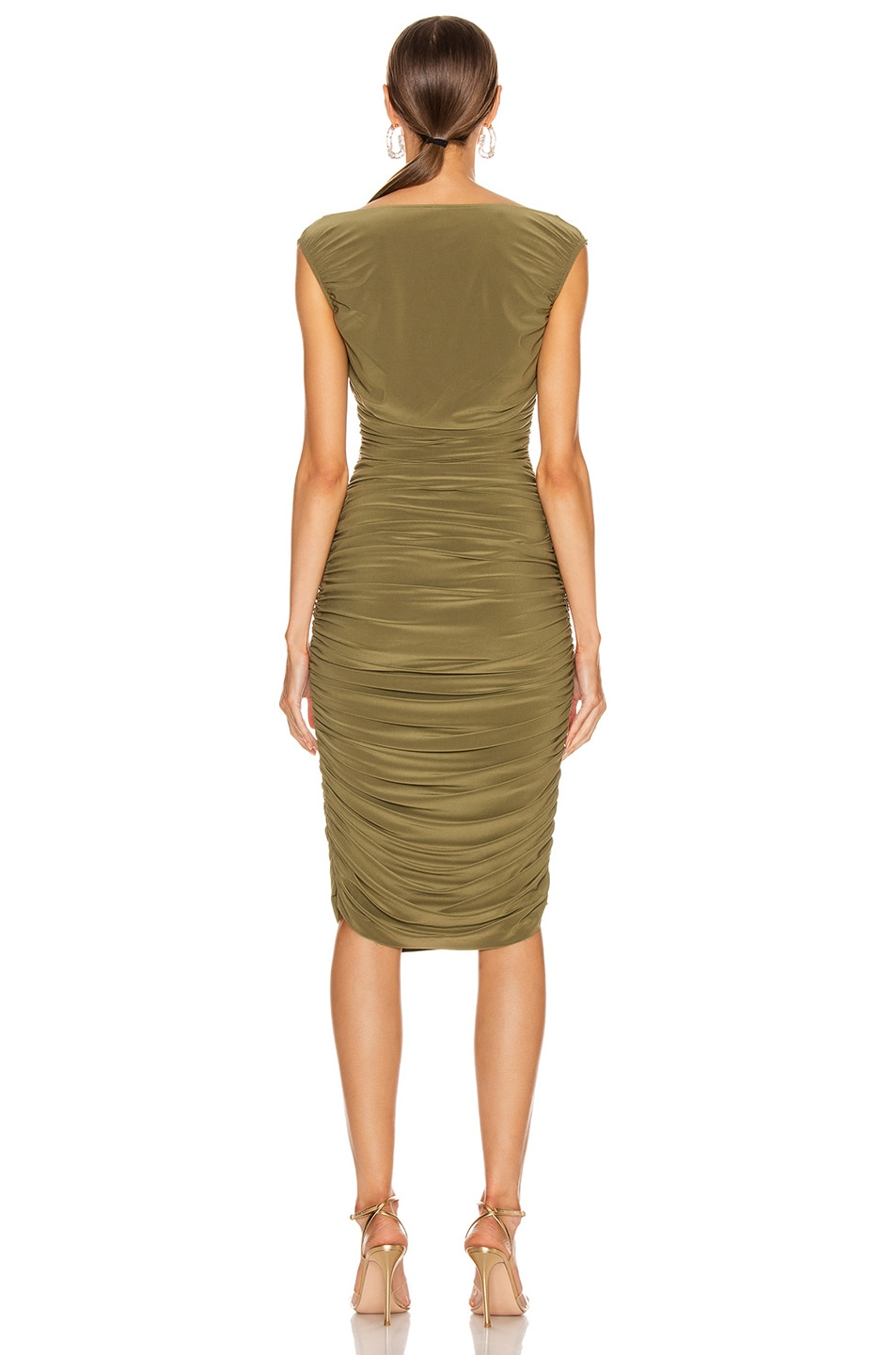 Image 3 of Norma Kamali Tara Dress in Dark Khaki