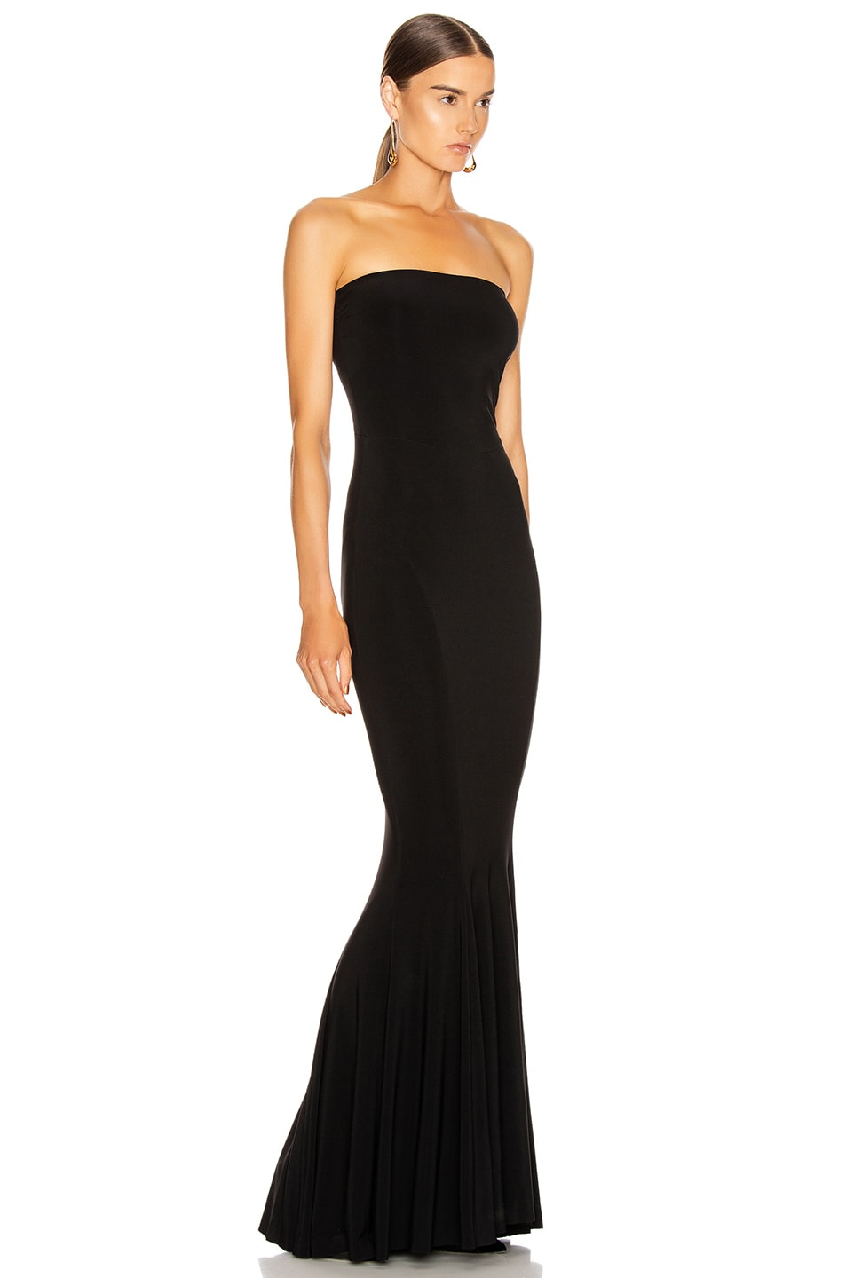 Image 2 of Norma Kamali Strapless Fishtail Gown in Black