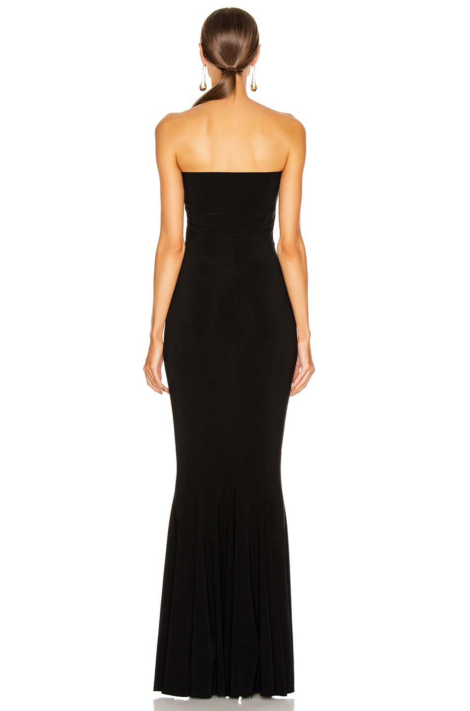 Image 3 of Norma Kamali Strapless Fishtail Gown in Black