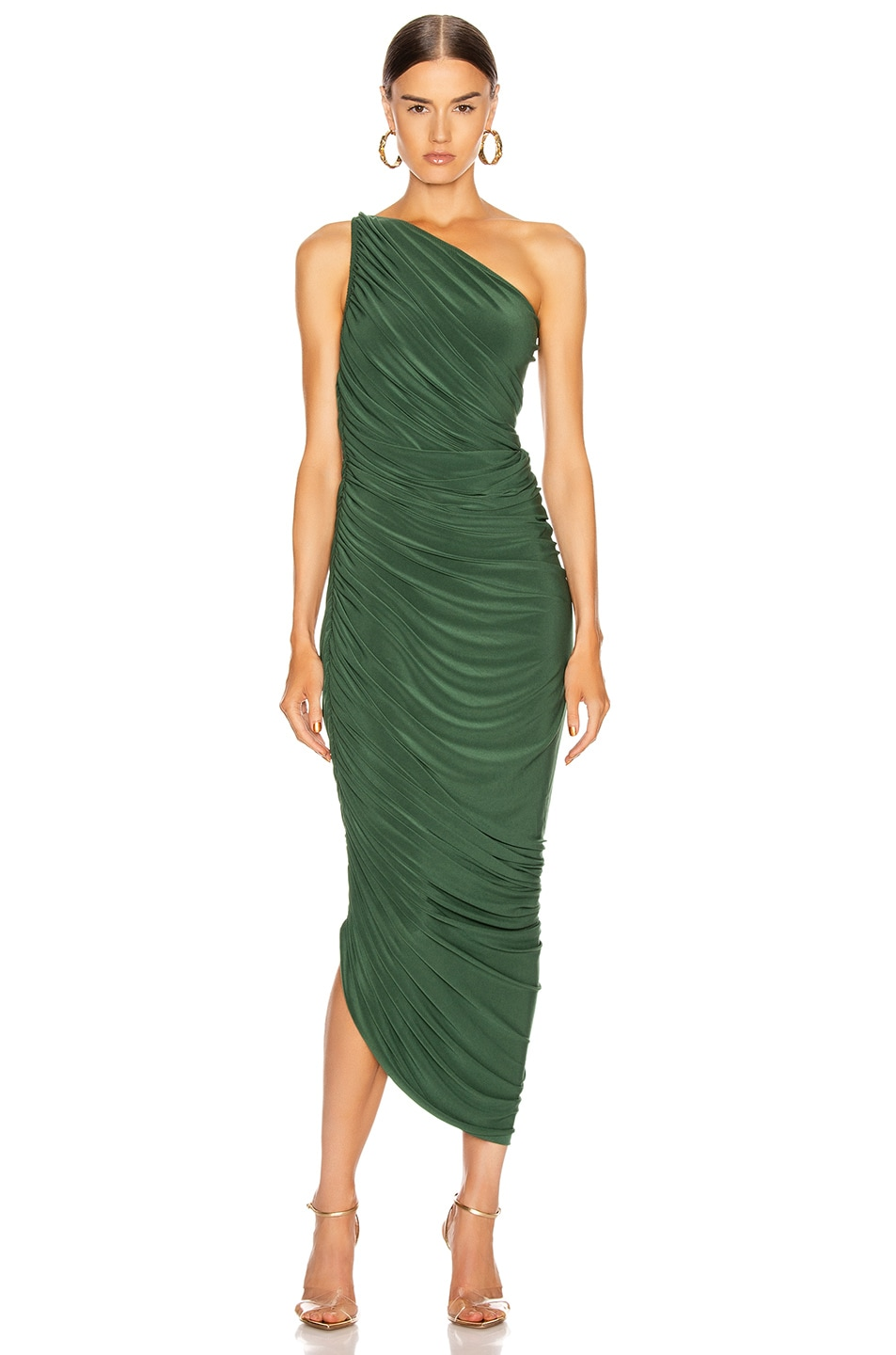 Image 1 of Norma Kamali Diana Gown in Forest Green