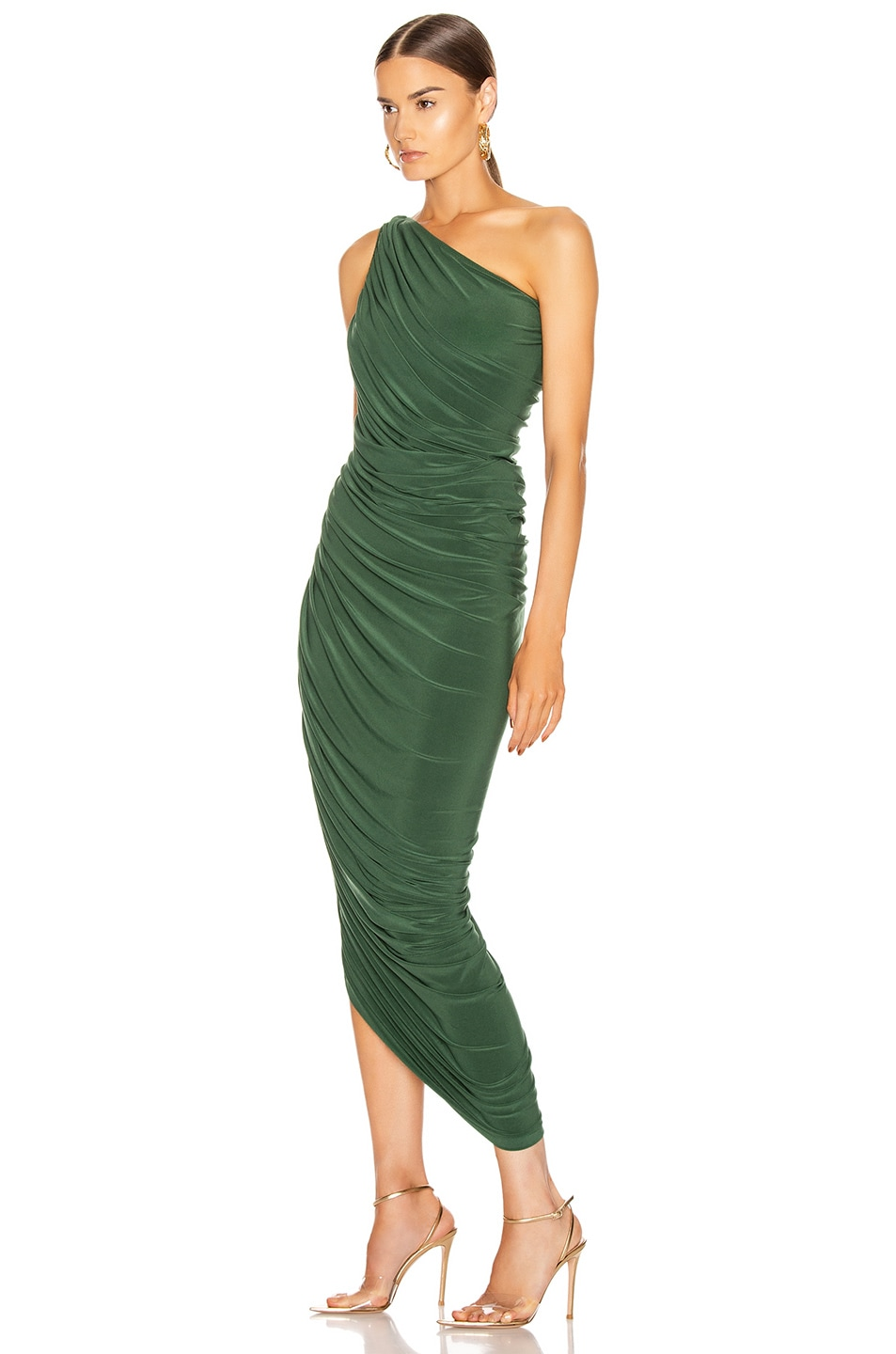 Image 3 of Norma Kamali Diana Gown in Forest Green