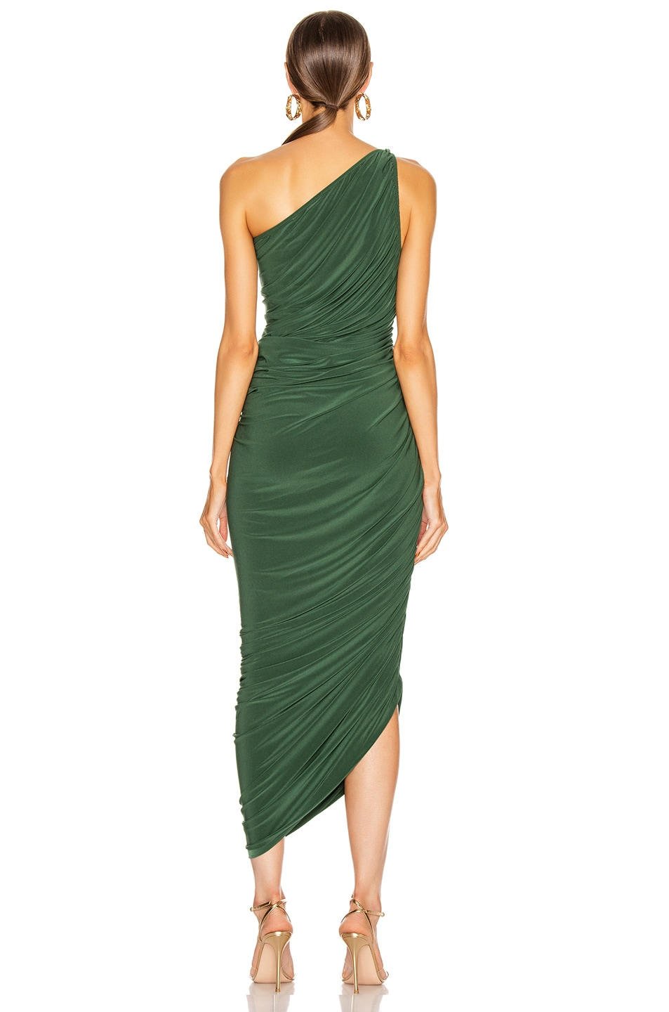 Image 4 of Norma Kamali Diana Gown in Forest Green