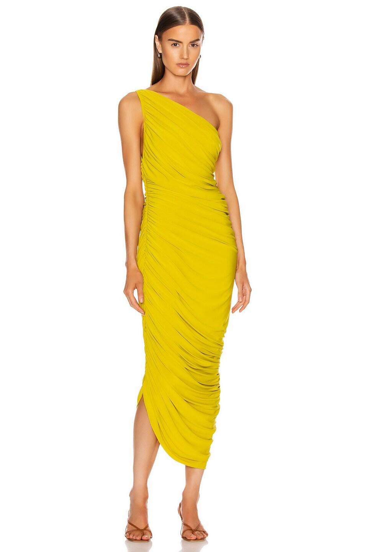 Image 1 of Norma Kamali Diana Dress in Citrus