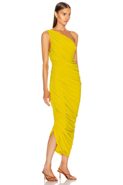 Image 2 of Norma Kamali Diana Dress in Citrus