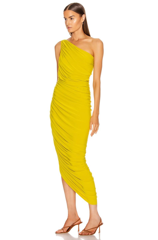 Image 3 of Norma Kamali Diana Dress in Citrus