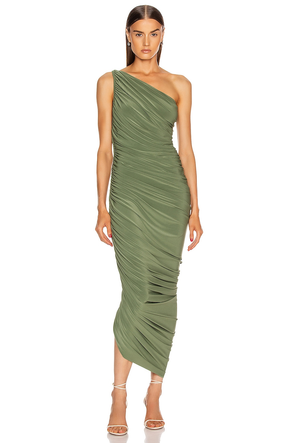 Image 1 of Norma Kamali Diana Gown in Celadon