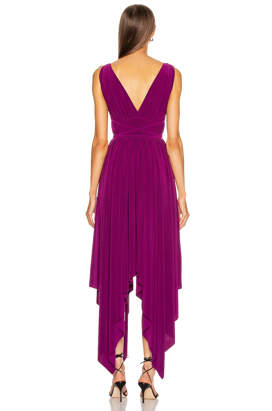Image 3 of Norma Kamali Goddess Gown in Raspberry