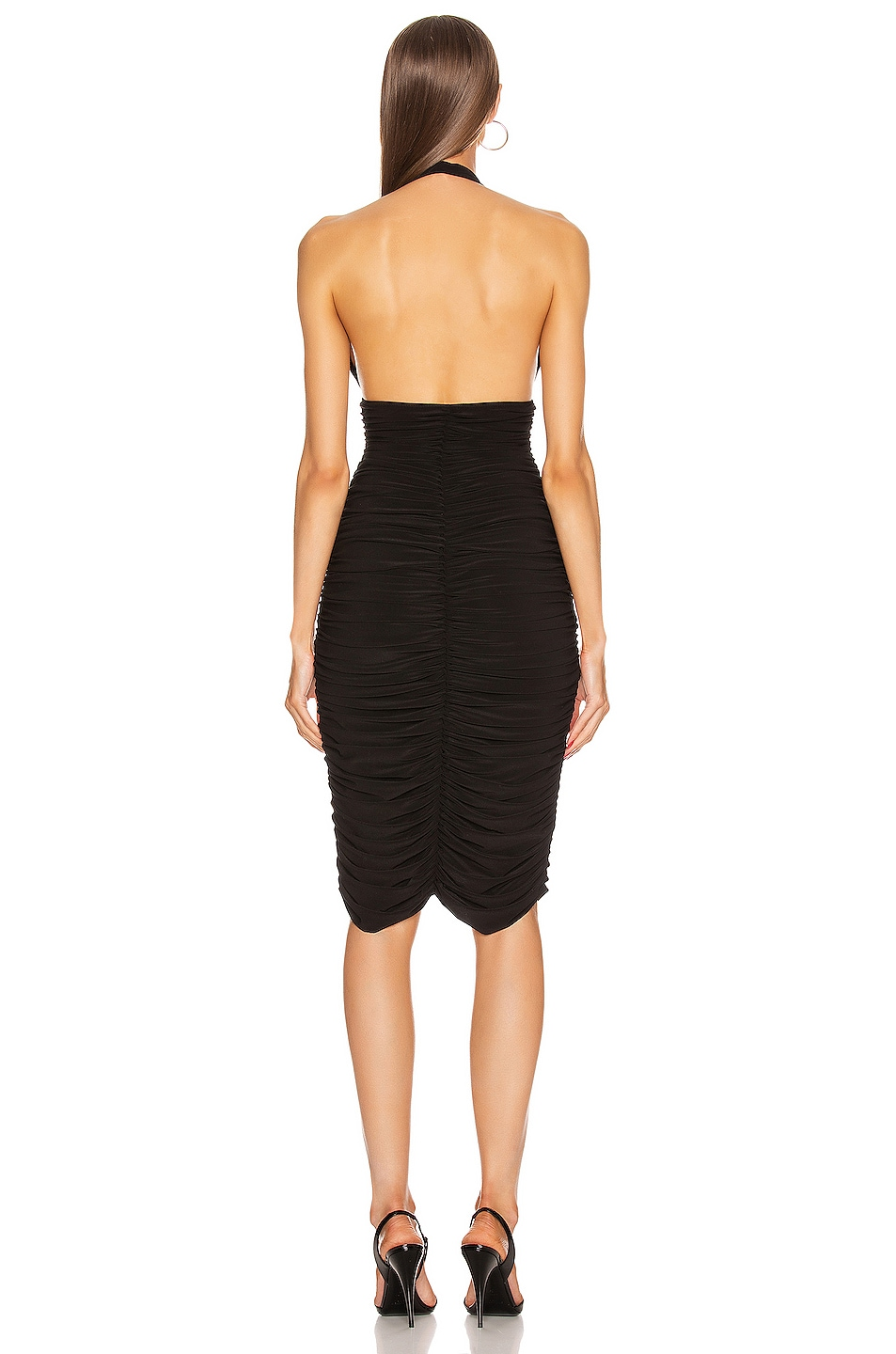 Image 3 of Norma Kamali Halter Slinky Dress in Black