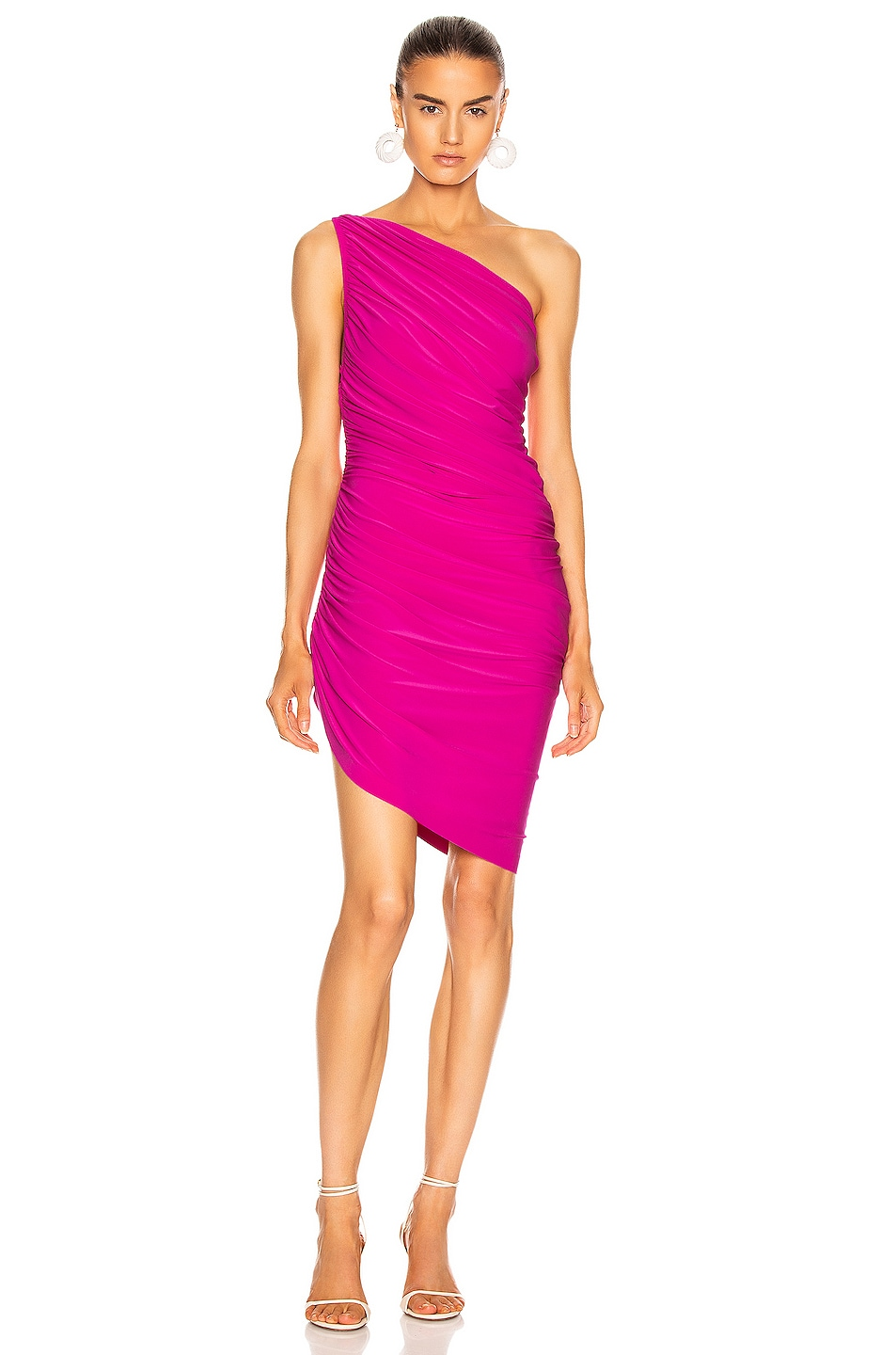 Image 1 of Norma Kamali for FWRD Diana Mini Dress in Fuchsia