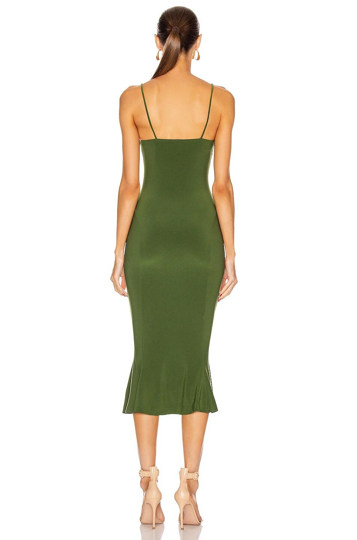 Image 3 of Norma Kamali for FWRD Slip Fishtail Midi Dress in Oliva